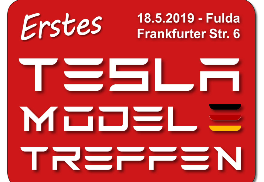 1. Tesla Model 3 Treffen