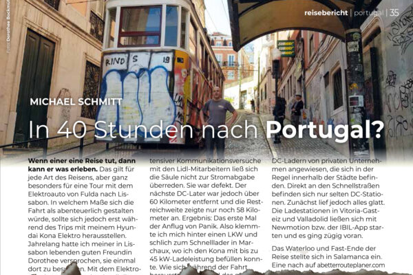 In 40 Stunden nach Portugal?