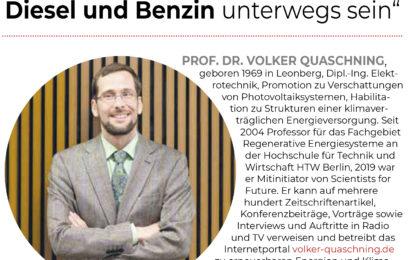 Prof. Quaschning pro E-Autos