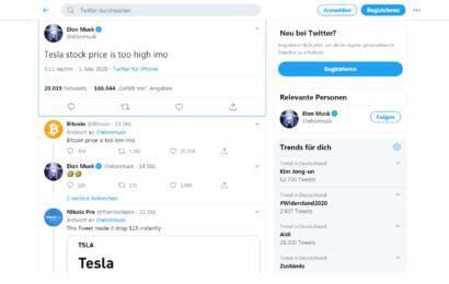 Elon Musk verunsichert mit neuen Tweets