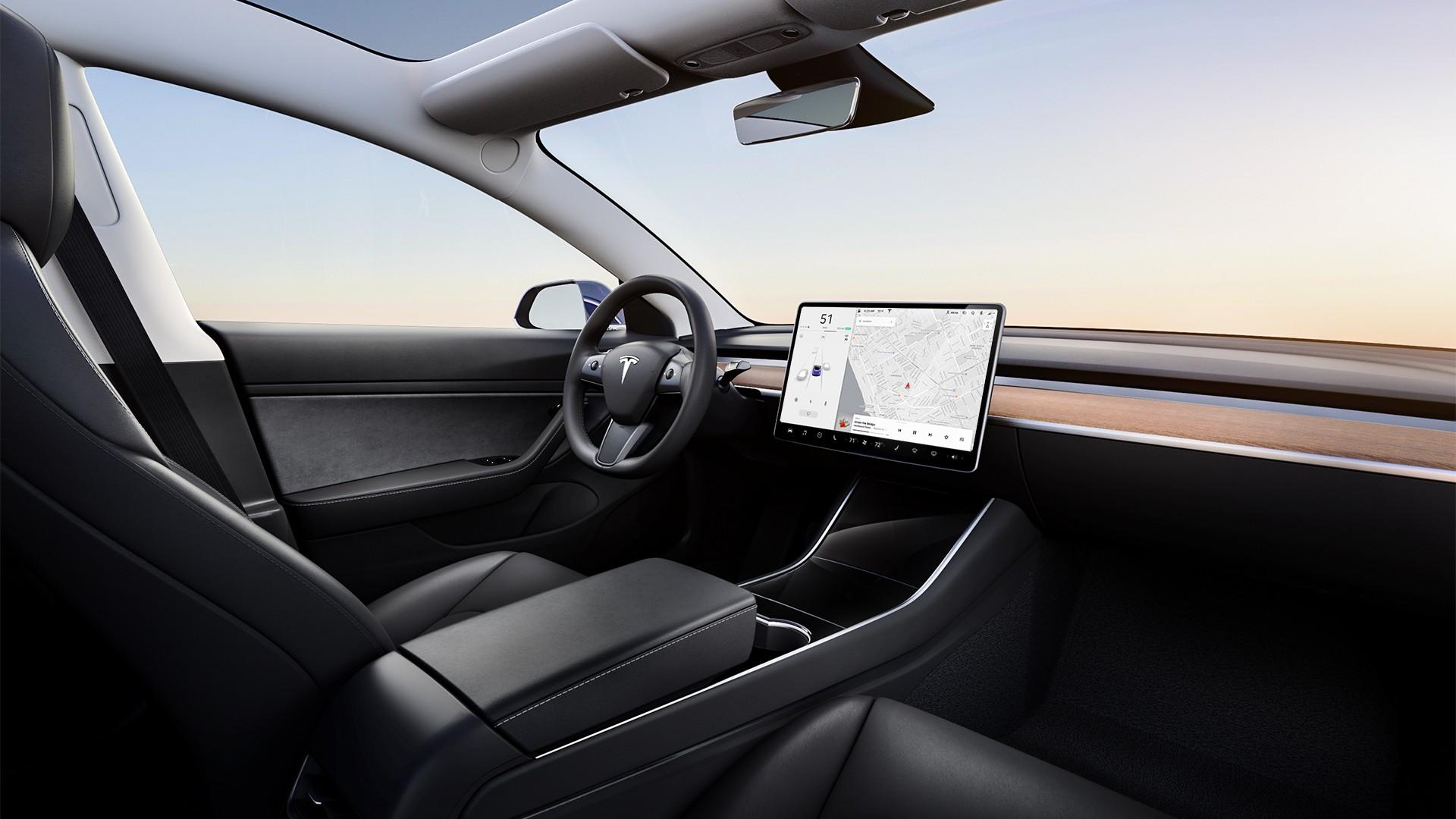 Tesla Model 3 Interior.