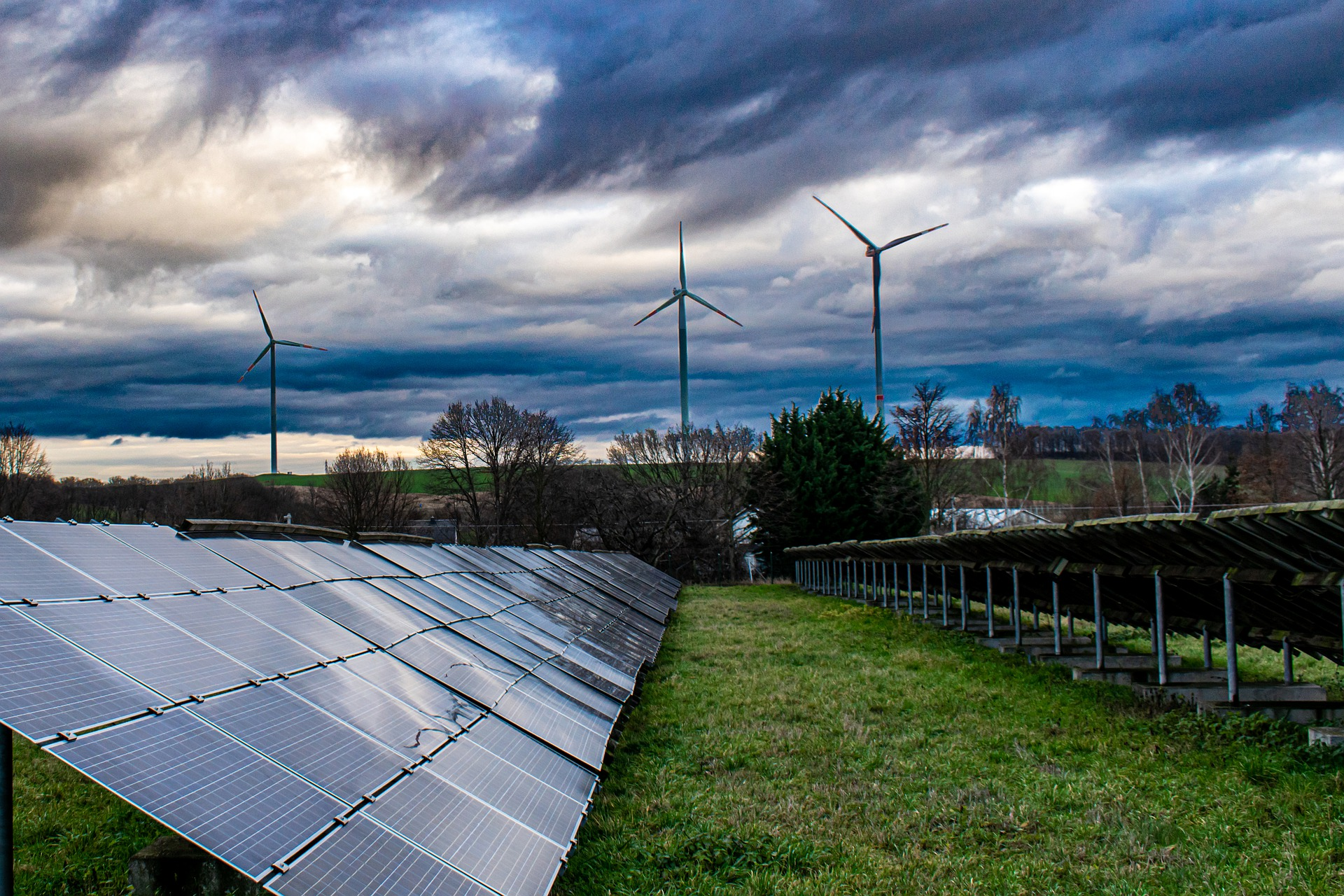 Solarpanel Windrad