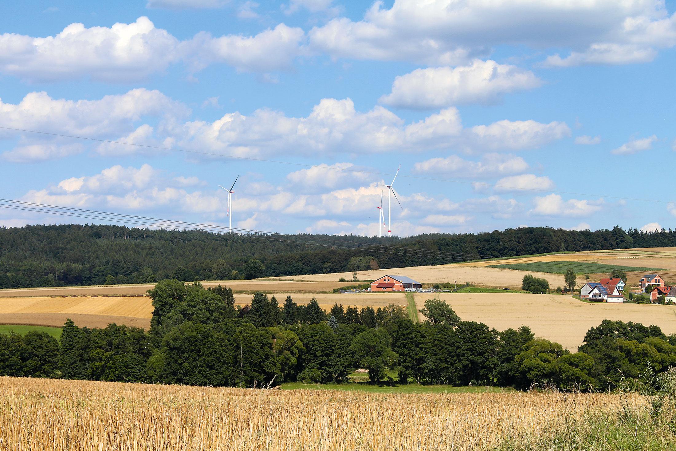 Windräder in Hofbieber