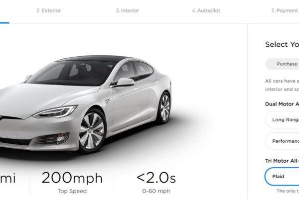 Model S Plaid bestellbar
