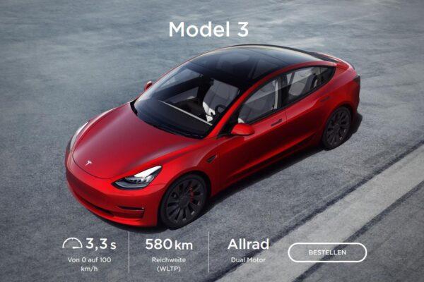Model 3 ab sofort mit anderen Daten