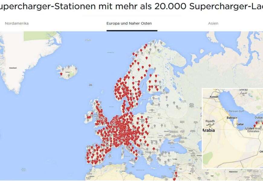 2.000 Tesla Supercharger!