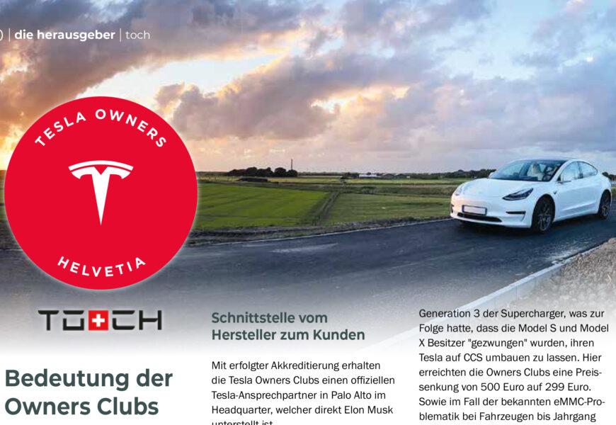 Bedeutung der Tesla Owners Clubs