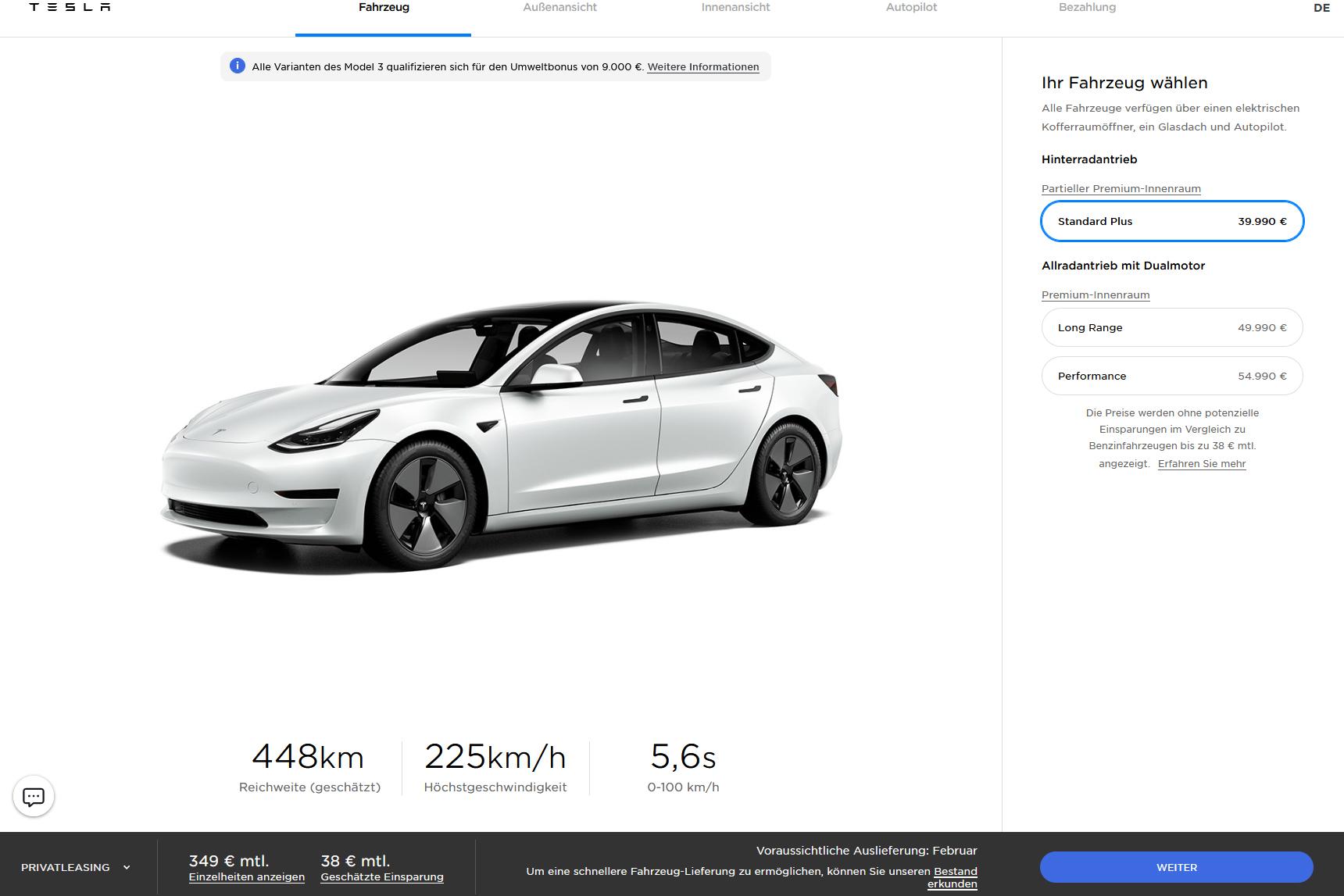 Tesla Model 3 Preis 20 01 2021