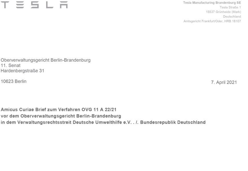 Kritik an Genehmigungsverfahren in Deutschland: Hier ist Teslas Original-Brief