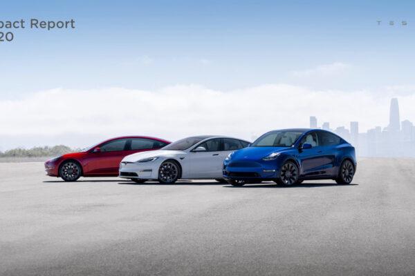 Erhebliche CO<sub>2</sub>-Einsparungen und nachhaltigere Produktion: Tesla Impact Report 2020